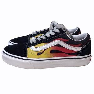 Vans Old Skool Flame OG Black Low-Top Sneakers 4.5